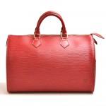 Vintage Louis Vuitton Speedy 35 Red Epi Leather City Handbag