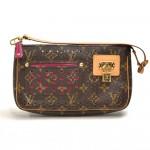 Louis Vuitton Perforated Accessories Monogram Canvas Orange Leather Handbag - 2006 Limited